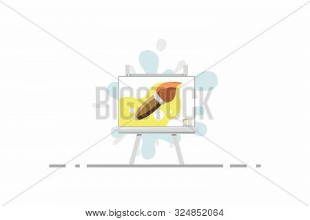 Painting Tools Elements Vector Concept. Drawing Creative Illustration Designs For Workshops. Modern