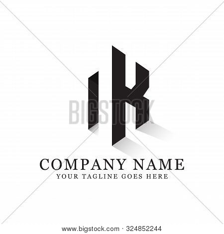 N K Initial Logo Inspiration, Clean And Clever Logo Designs, Letter N Logo Template