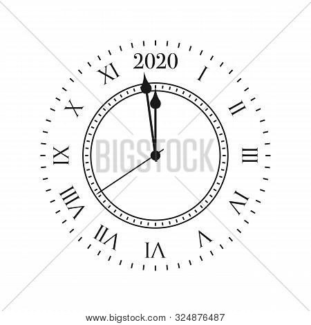 New Year 2020 Countdown. Clock With 2020 Countdown Midnight
