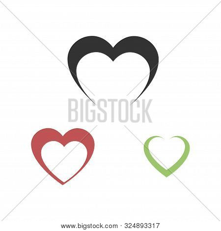 Heart Icon Vector. Love Symbol. Valentines Day Sign. Flat Style For Graphic And Web Design, Logo
