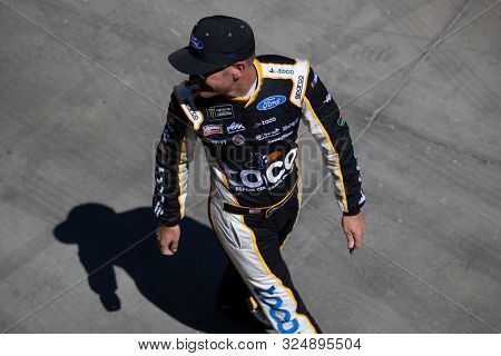 September 13, 2019 - Las Vegas, Nevada, USA: Clint Bowyer (14) gets ready to practice for the South Point 400 at Las Vegas Motor Speedway in Las Vegas, Nevada.