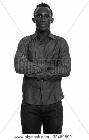 Young Black African Man With Arms Crossed