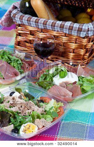 Pic-nic Basket And Salads