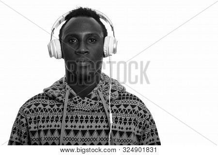 Young Black African Man Listening To Music