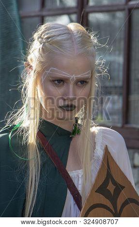 September 23, 2018, Ukraine Kiev: Elves Cosplayers Posing At Comic Con Ukraine Convention