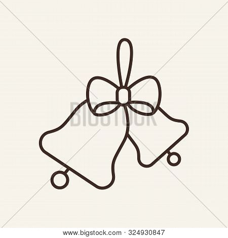 Christmas Bells Line Icon. Winter, New Year, Holiday. Christmas Concept. Vector Illustration Can Be