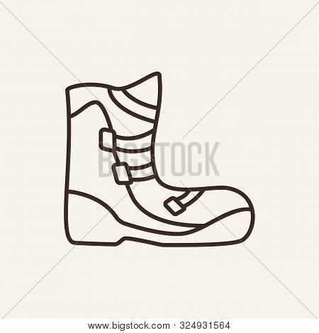 Snowboard Shoe Line Icon. Winter, Snowboard, Sport. Winter Sport Concept. Vector Illustration Can Be
