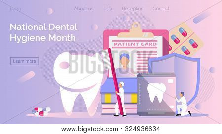 National Dental Hygiene Month Celebrated In October. Tiny Dentists Make X-ray Scan Of Teeth To Help