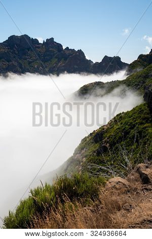 Over The Clouds In Pico Ruivo In Madeira