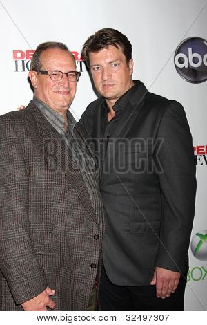 LOS ANGELES - APR 29:  Bob Fillion, Nathan Fillion arrives at the