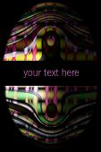 Abstract illustrated powerful and decorative background design poster
