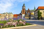 Wawel Cathedral or The Royal Archcathedral Basilica of Saints Stanislaus and Wenceslaus on the Wawel Hill, part of Wawel Royal Castle complex in Krakow, Poland poster