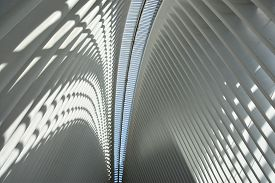 New York, Ny - Jul 20:the Oculus Of The Westfield World Trade Center Transportation Hub In New York,