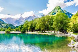 View At The Jasna Lake In Julian Alps Near Kranjska Gora Town -slovenia