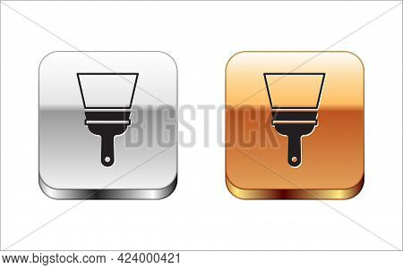 Black Cleaning Service With Of Rubber Cleaner For Windows Icon Isolated On White Background. Squeege