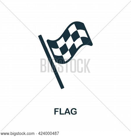 Flag Flat Icon. Colored Filled Simple Flag Icon For Templates, Web Design And Infographics