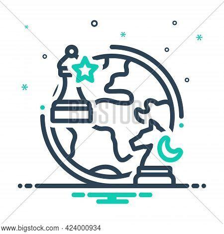 Mix Icon For Geopolitics Chess Globe Business Checkmate Geopolitical Politics