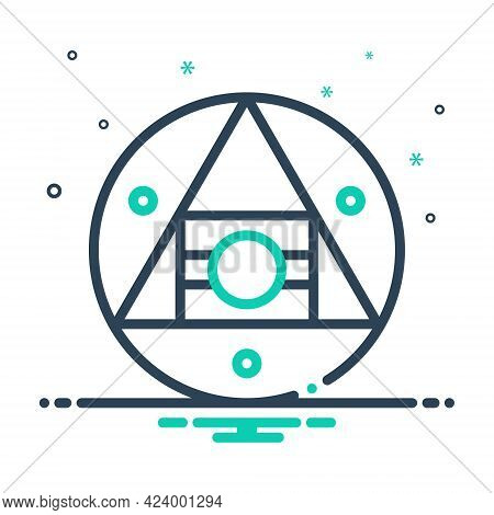 Mix Icon For Hermetic Airtight Technology Logo