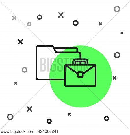 Black Line Online Working Icon Isolated On White Background. Freelancer Man Working On Laptop At His