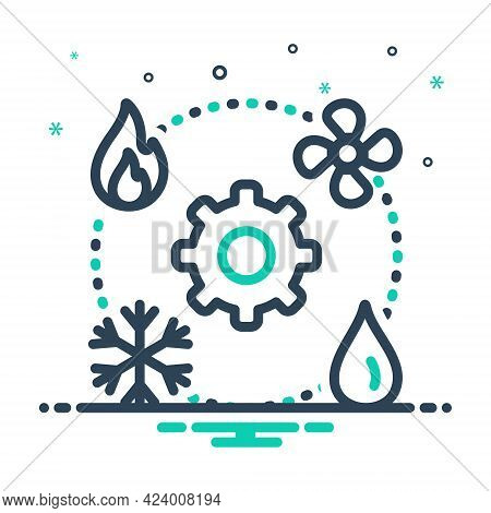 Mix Icon For Hvac Technician Heating Ventilation Air Conditioning  Vehicular Environmental Comfort