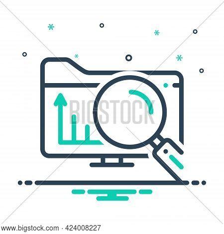 Mix Icon For Exploratory Explorative Research Investigation Inquiry