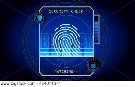 Set Of Realistic Scanning Progress Fingerprint Isolated Or Security Systems Access Authorization Or