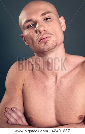 Portrait Of Naked Athletic Man