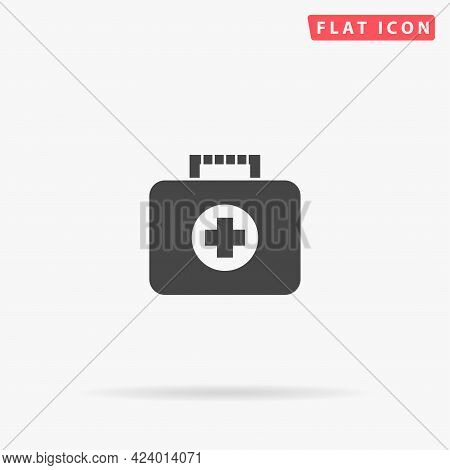 First Aid Kit Flat Vector Icon. Hand Drawn Style Design Illustrations.
