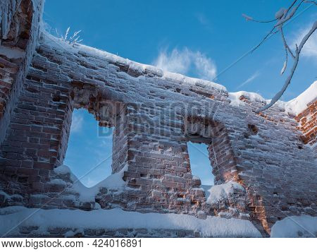 Ruins Of Old Destroyed Stone Building At The Stone Hill, Mari El, Russia