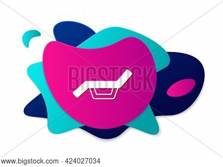 Color Sunbed Icon Isolated On White Background. Sun Lounger. Abstract Banner With Liquid Shapes. Vec