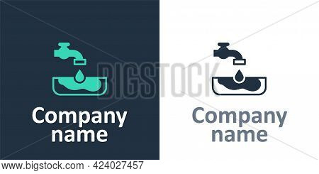 Logotype Water Problem Icon Isolated On White Background. Poor Countries Environmental Public Health