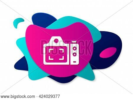 Color Photo Camera Icon Isolated On White Background. Foto Camera. Digital Photography. Abstract Ban