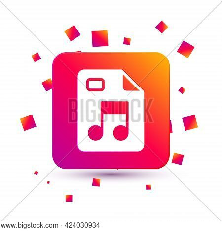 White Mp3 File Document. Download Mp3 Button Icon Isolated On White Background. Mp3 Music Format Sig