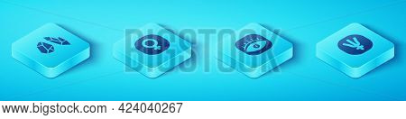 Set Isometric Magic Stone, Venus, Neptune Planet And Masons Icon. Vector