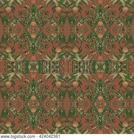 Modern Geometric Collage Tropical Or Camouflage Style Seamless Pattern Mosaic