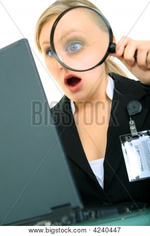 Shocked Young Businesswoman