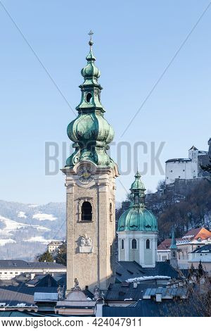Salzburg, Austria - February 25:  A View Of St Peters Abbey In Salzburg Is Pictured On February 25,