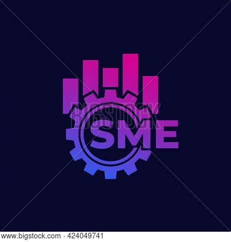 Sme, Small And Medium Enterprise Icon With Gear