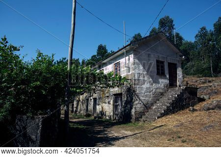 A typical rural house in the municipality of Arouca, Portugal.