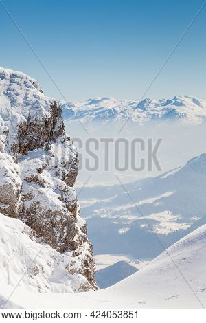 Untersberg Summit.  The View Across The Summit Of Untersberg Mountain In Austria.  The Mountain Stra