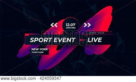 Sports Games Channel Page. Modern Sport Background