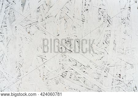 Texture Of Old Rustic White Wood Chipboard