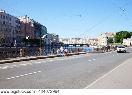Saint Petersburg, Russia - June 23, 2020: Griboyedov Canal In Saint Petersburg, Russia.