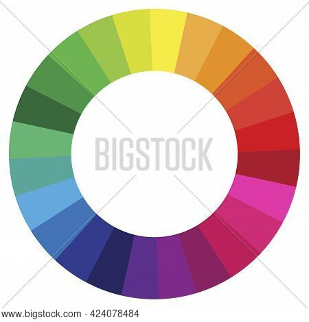 Colors Spectrum. Ink Painting Style. Vector Illustration. Stock Image.