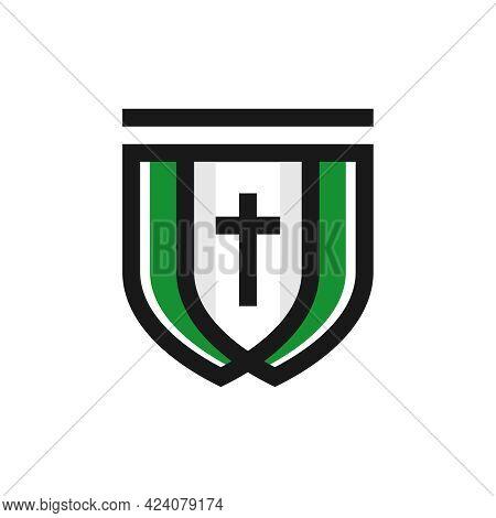Catholic Religious Shield Logo Design Or Brand
