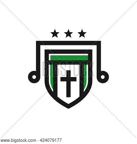 Catholic Religious Shield Logo Design Your Company