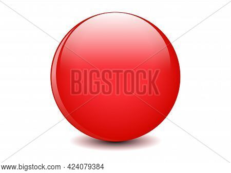 3d Ball Red Glossy Sphere Of Spheres On White Background Vector Illustration For Your Graphic Design
