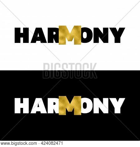 Harmony T Shirt Print With Gold Foil Set