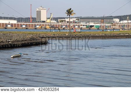 Goods Storage Sheds Across The Bay In Durban Harbour