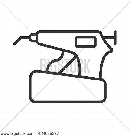 Obturation System Linear Icon. Endodontics Equipment For Baking Gutta-percha. Endo Heated Pen Conden